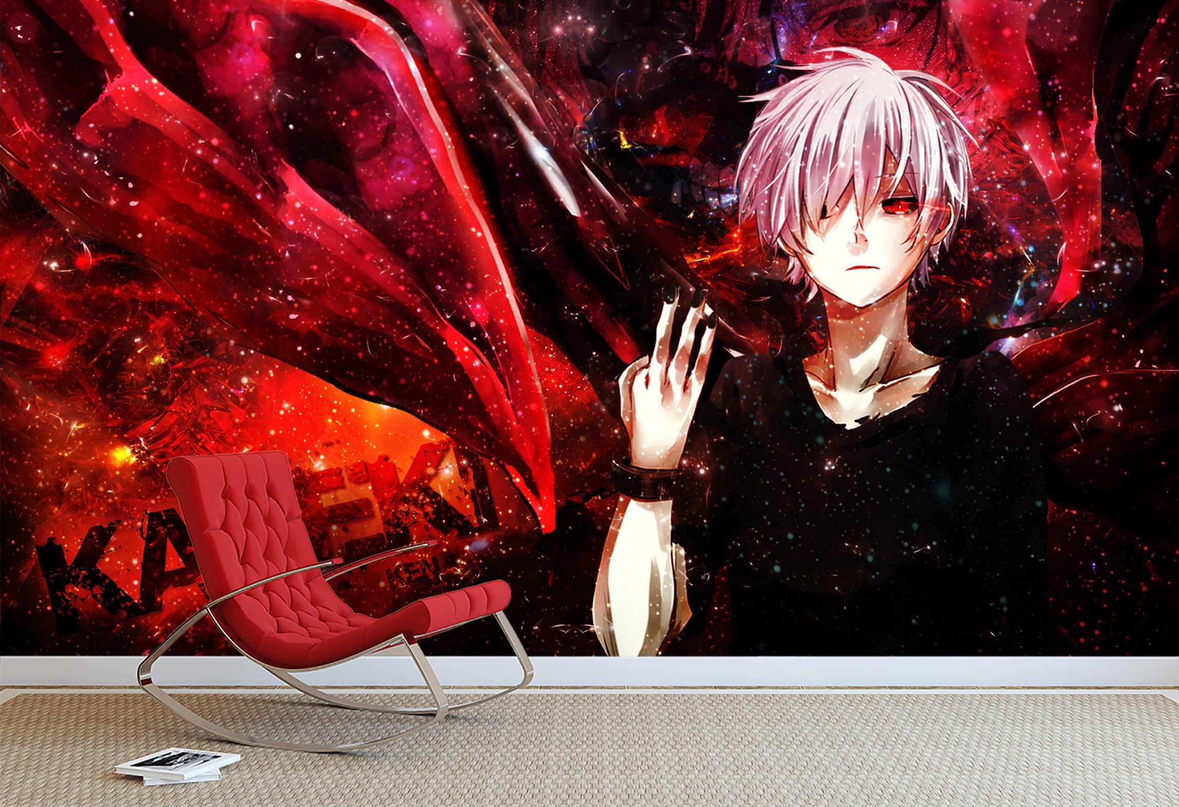 自己粘着 3d 東京グール 30650 日本アニメ壁紙壁画壁印刷デカール壁の