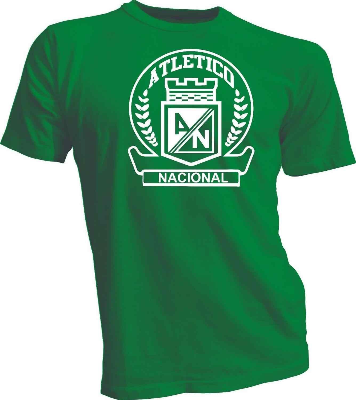 Camiseta de fútbol Atlético Nacional Colombia Medellin fútbol Camiseta de fútbol estampada para hombre moda 2019 Camiseta Casual