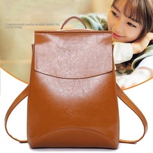 Women fashion backpack Waterproof and breathable PU leather for Teenage Girls Female School Casual schoolbag travel backpack