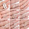 Edelstahl Berg Halsketten für Frauen Mode Baum Welle Elefanten Hedgehog Halskette Tier Bee Schmuck Halsband Geschenke 2021