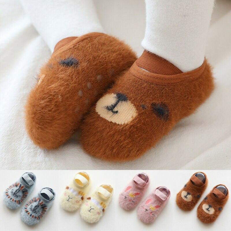 Unisex Baby Socks-Cute Infant Non-Slip Cotton Socks For Baby Toddler Kids  0-3Y