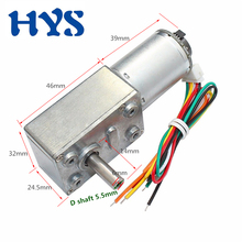 цена на HYS Motor DC 6V 12V 24V Encoder Gear Motor Reducter 9-150rpm Mini Electric Reversible Motor