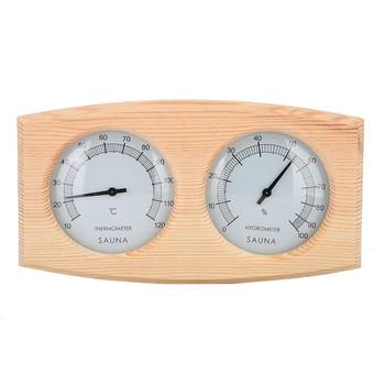 Sauna miernik wilgotności cyfrowy wyświetlacz podwójne wskaźniki drewniany termometr instrumenty żaroodporne łaźnia parowa jacuzzi # g30 tanie i dobre opinie ISHOWTIENDA CN (pochodzenie) Termometry do kąpieli Z tworzywa sztucznego Skala Mierniki temperatury i wilgotności