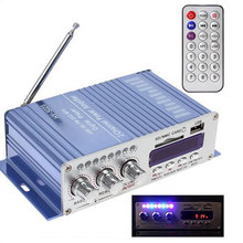 Bluetooth Car Power Amplifier Stereo Sound Mode HiFi 2 Channel Mini FM Audio + MP3 Speaker Music Player Blue Color HY502S lepy 2 channel bluetooth 2 1 hifi stereo audio support sd usb fm amplifier page 9 page 7 page 9