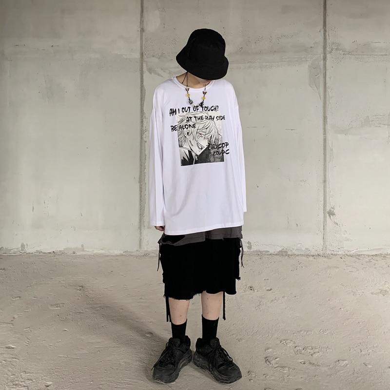 Купить молодежная футболка harajuku с жизненным принтом свободные футболки
