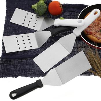 Naczynia do gotowania ze stali nierdzewnej duże obroty do smażonej łopatka do steków długa rączka szpatułka z otworami łopatka narzędzia kuchenne tanie i dobre opinie CN (pochodzenie) Ekologiczne Na stanie Turner stainless steel Tokarstwo