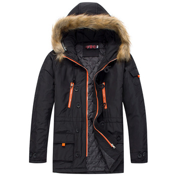 Men Tactical Jacket Loose Military Fur Hood Warm Coat Male Trench Thick Hooded Multi-pocket Jacket Army Tactical Jackets Parka