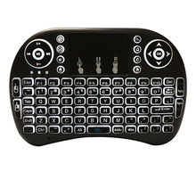 Mini clavier sans fil 2.4G rétro-éclairé anglais/français