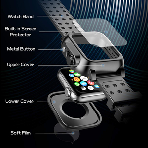 Image 5 - IP68 עמיד למים מקרה עם סיליקון רצועת עבור אפל שעון SE 6 5 4 40mm 44mm ספורט צמיד עבור iWatch 3 2 1 38mm 42mm להקה