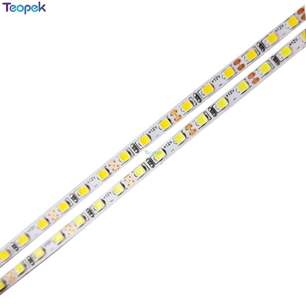 3mm PCB 5M 2520 SMD 168leds/m 840Leds Neutral White White Warm White Flexible LED Strip 12V Non-Waterproof Super Bright