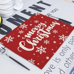 Merry Christmas Flower Deer New Year's  Table Napkin Desk Christmas Tree Decorations Santa Navidad Decoraciones Para El Hogar 4