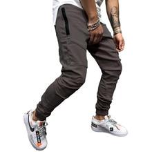 Pantalones pitillo informales para hombre, pantalón de chándal, Hip Hop, ajustados, a la moda, para otoño, 2019