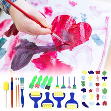 42pcs Kids Early Learning Sponge Painting Brushes Kit Sponge Drawing Shapes Paint Craft Brushes Sponge Drawing tool For Toddlers(China)