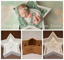 Newborn Photography Props  Baby Wooden Bed Baby Shoot Container Five-pointed Star Bed Photo Studio Posing Prop  accessories