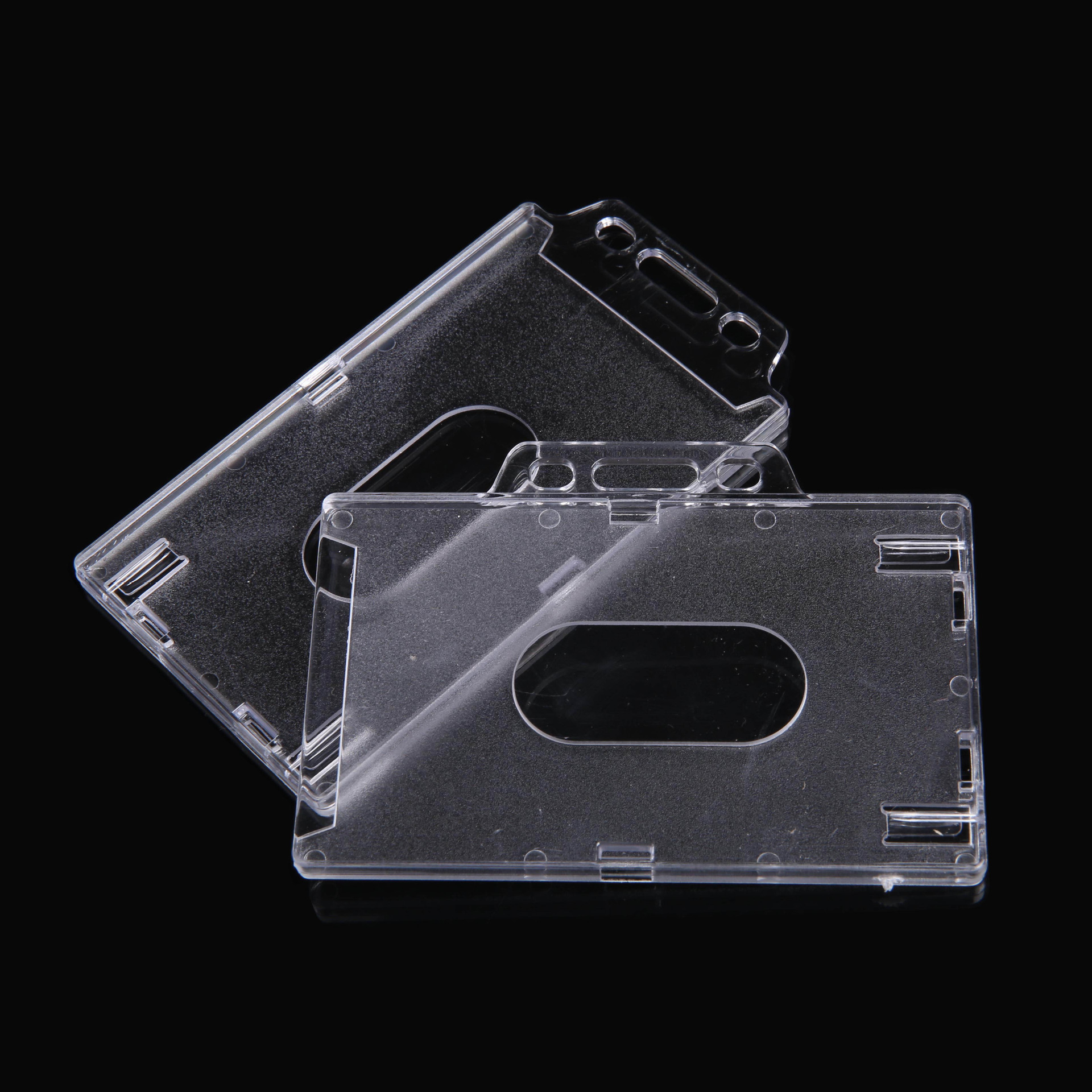 Acrylic Transparent Certificate Card Sleeve Hard Card Folder IC Card Holder Access Control Card Holder Bus Card Holder