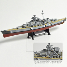 1:1000 World War II Ship Model Battleship Bismarck USS Missouri HMS Hood Alloy Finished Handcraft Collection
