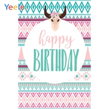Yeele Birthday Party Photocall Chevrons Cow Mask Photography Backdrops Personalized Photographic Backgrounds For Photo Studio