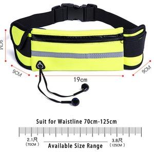 Image 3 - Frau Wasserdicht Taille Gürtel Mann Läuft Tasche mit Flasche Halter für Marathon Jogging Telefon Schlüssel Beutel für Lauf