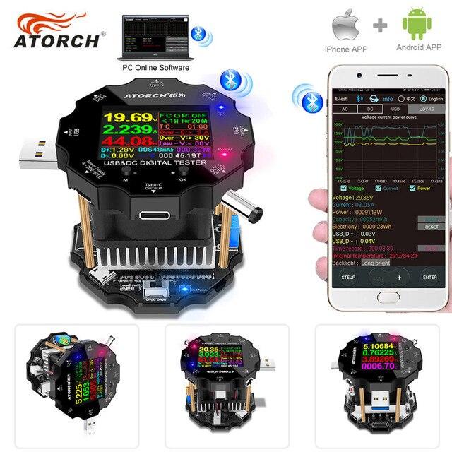Тестер Аккумуляторов с цветным приложением, электронный измеритель емкости 18650, индикатор разряда, измерительный прибор для зарядки usb, DC 12 В, блок питания