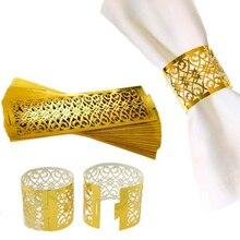 50 шт./лот кольца для салфеток для свадебного стола украшения Юбки принцессы принца Стразы Золотые кольца для салфеток вечерние принадлежности горячая распродажа