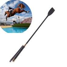 Тонкий кожаный укороченный кнут для верховой езды paardrij zweep