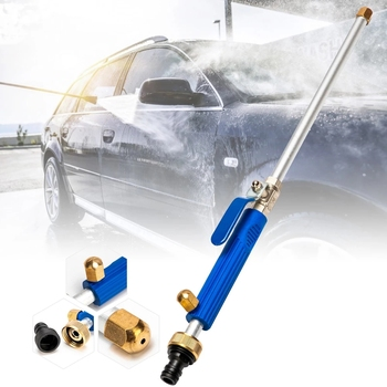 Pistolet na wodę pod wysokim ciśnieniem metalowy pistolet na wodę moc myjnia samochodowa Spray myjnia samochodowa narzędzia ogród strumień wody pod ciśnieniem myjka ciśnieniowa tanie i dobre opinie CN (pochodzenie) Lances Zmienna spray wzory Ogród pistolety wodne F001188 Aluminium Alloy(body) + Copper(Nozzle head) + TPR(handle)