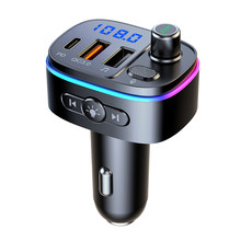 FM Transmitter Bluetooth Car MP3 Player FM Modulator PD/QC3.0 Fast Charger Car Radio Adapter Wireless Transmitter for Vehicle