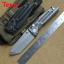 District 9 Original NUCLEAR EXPLOSION Heavy folding knife M390 blade Titanium handle Camp hunt outdoor Survival knives EDC tools district 9 9 s35vn tc4 edc shirogorov f95