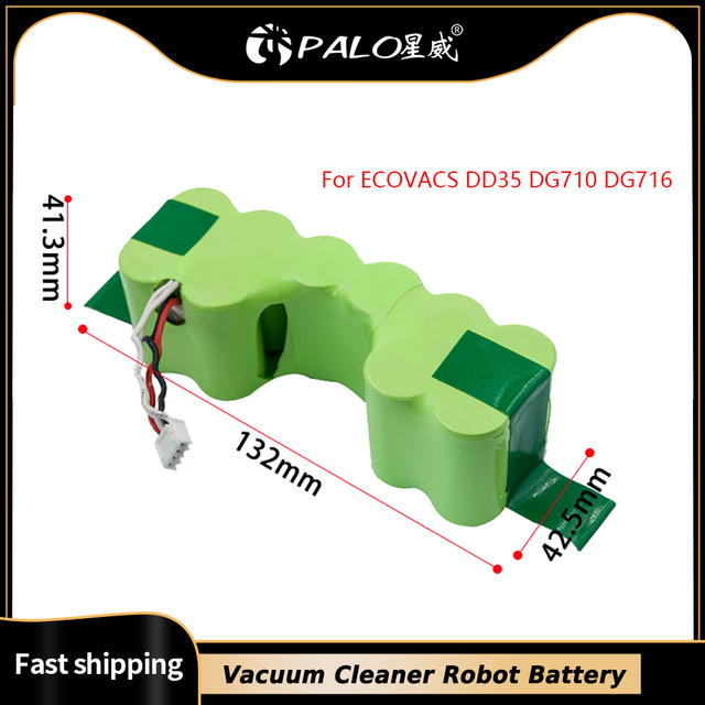PALO Vacuum Cleaner Robot Battery in Rechargeable Batteries Pack  Bateria 12V Ni   MH 3500mah For ECOVACS DD35 DG710 DG716