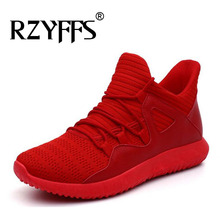 big size red WHITE BLACK Mesh Sneakers high top Shoes Male sports