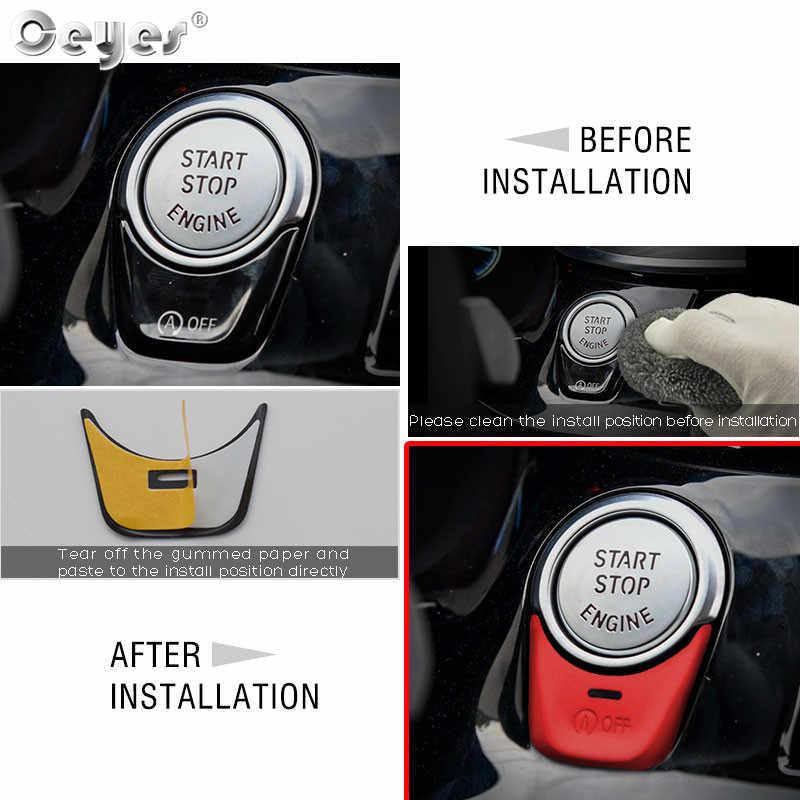 Ceyes Styling Car Engine Start Botão Substituir Interruptor de Paragem de Acessórios de Cobre Anéis Caso Para Bmw X3 X4 X5 X6 7 série GT Adesivos