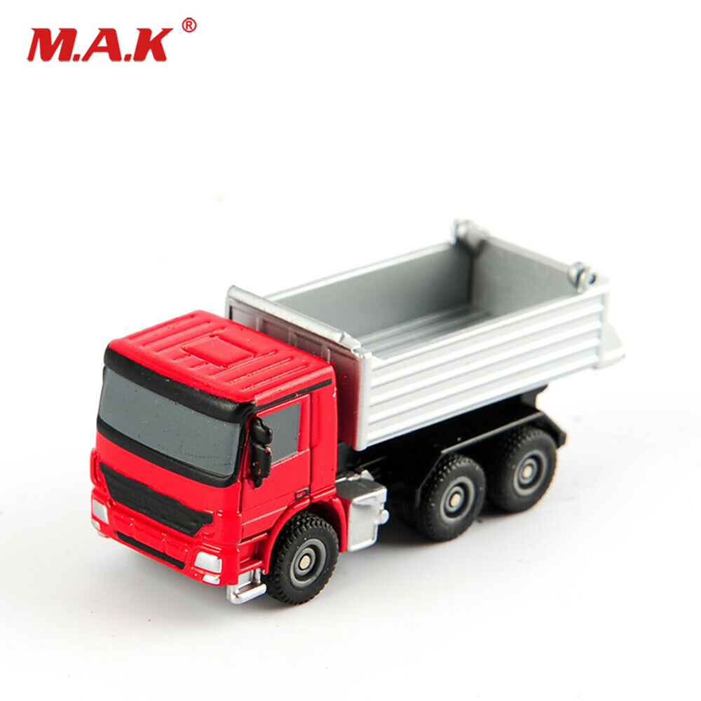 Collectible In Stock 1/87 Scale Red Alloy Truck Sliver Container Model Vehicle Car Toys For Fans Collection Gifts