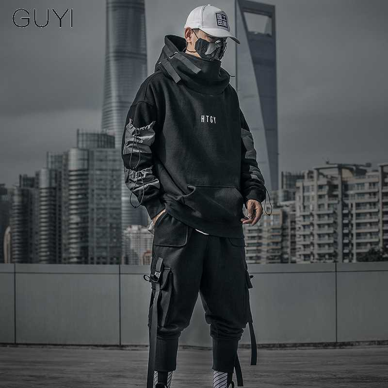 Brief Japan Stijl Hoodies Sweatshirts Mannen Harajuku Hip Hop Streetwear Trui Casual Techwear Pluis Hoddies Mannelijke Hooded Top