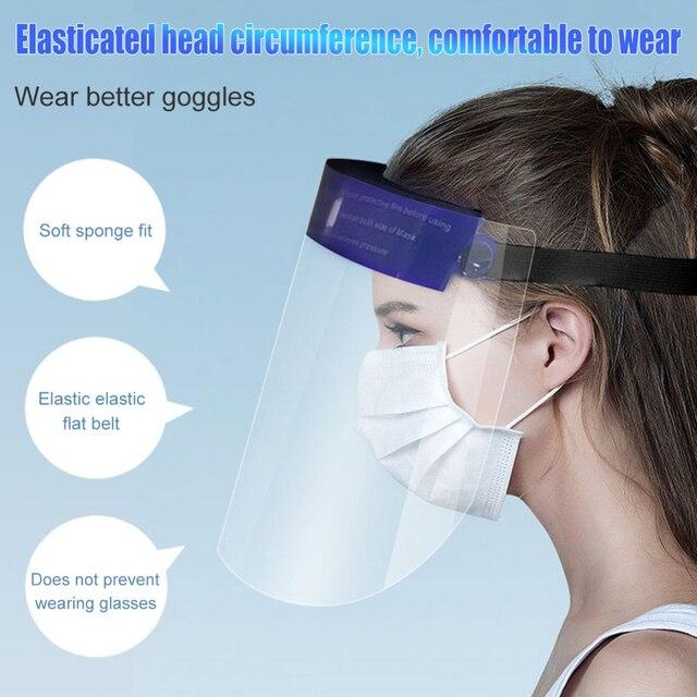 1pcs Clear Face Shield Screen Mask Visor Eye Protection Anti-fog Protective Prevent Saliva Splash Mask Dropshipping 2