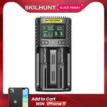 Nitecore UM2 USB Dual SlOT QC Ladegerät Intelligente Schaltung Globalen Versicherungs li ion AA 18650 20700 26500 26650 Ladegerät