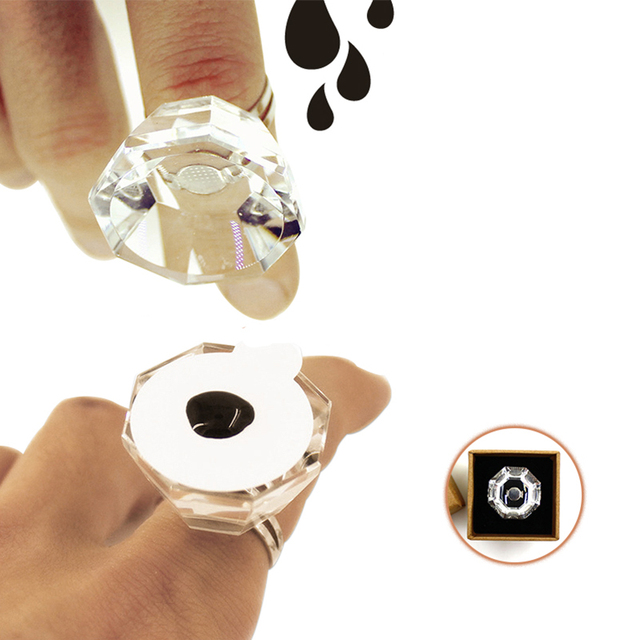 Non-disposable Crystal Tattoo Pigment Holder Eyelash Extend Ring Cup Tattoo Ink Container Eyebrow Makeup Microblading Accessory 4