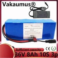 Bateria de íon de lítio 36 v  apropriada para 500 w bicicleta elétrica + carregador de bateria com 15a bms 42 v 7.8ah 8ah / 8800mah 10s3p 18650 c