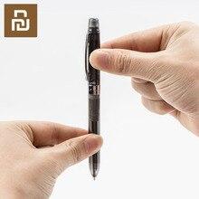 Youpin 3 way esferográfica canetas 4 em 1 multi função caneta com lápis de borracha reenche 0.5mm vermelho preto cor tintas assinatura caneta