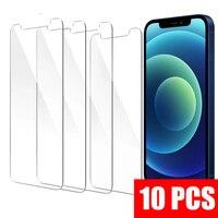 X XS X máx. 6s 6 7 8 Plus 5 5s SE 2020 Protector de pantalla Protector 10 unids/lote 5PCS 3 de vidrio templado para iPhone 12 Mini 11 Pro