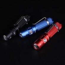 Sofirn lampe de poche étanche avec porte clé SP10S LED AA/14500, Mini lampe de poche étanche IPX8, lumière durgence