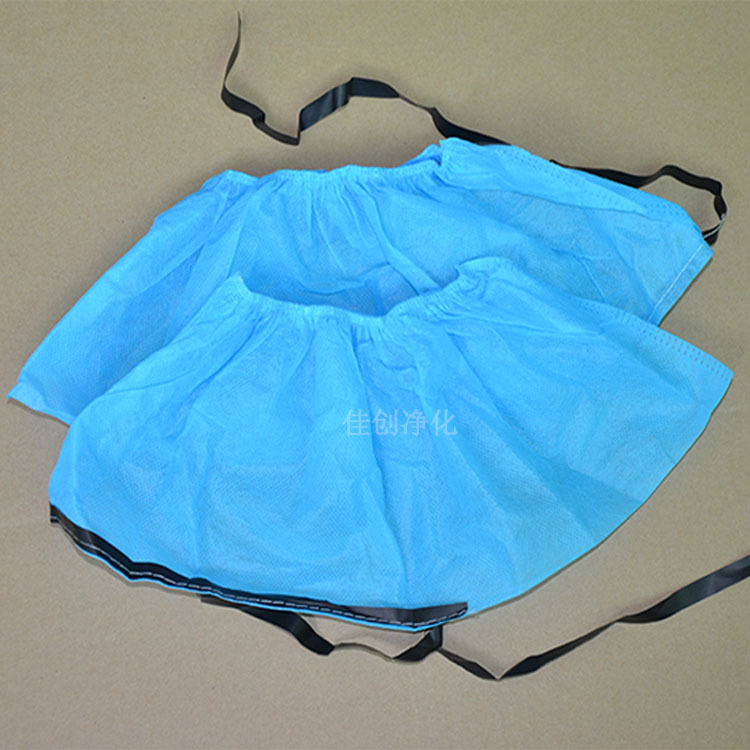 Dongguan Production Manufacturer Wholesale Disposable Anti-static Shoe Cover Conductive Shoe Cover Blue Non-woven Shoe Covers