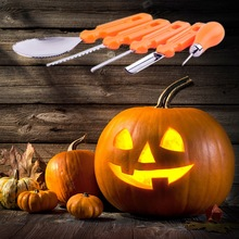 5PCS/Set Halloween Pumpkin Craving Tools Set DIY Craft Carving Graver Making Decor Knife AccessoriesCM