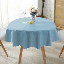 Waterproof and oil-proof disposable tablecloth, household round table cloth coffee tablecloth