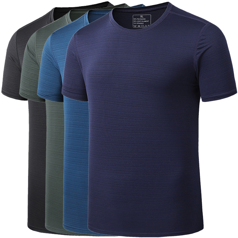 Size 5XL <font><b>6XL</b></font> Men's T Shirt Summer Fast-Dry Breathable Sport T Shirt Men Tee Shirt Fashion GYM Fitness Workout <font><b>Camisetas</b></font> <font><b>Hombre</b></font> image