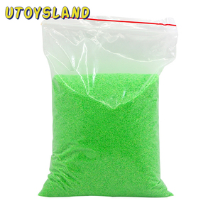 1KG DIY Not Wet Magic Sand Space Sand Hydrophobic Sand Stage Magic Tricks For Children Education Gift - Green Yellow Orange Pink