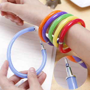 Creative flexible ballpoint pen cute soft plastic bracelet ballpoint pen school office gift supplies