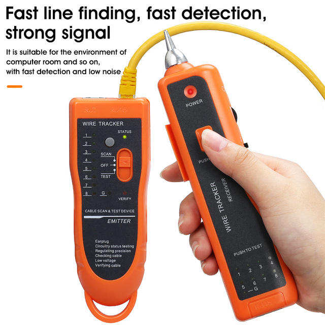 LAN Network Cable Tester Cat5 Cat6 RJ45 UTP STP Detector Line Finder Telephone Wire Tracker Tracer Diagnose Tone Tool Kit 2