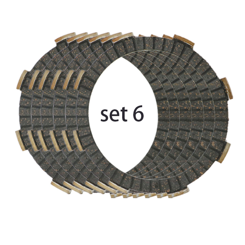 6 Piece Motorcycle CLUTCH disc FRICTION PLATE set for Honda CR125 CRF150 REBEL 250 CB250 CR125R CRF150R CBF250 VT250C VTR250