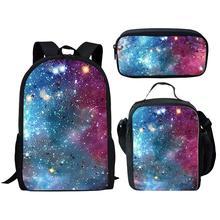 Cool Galaxy 3D Print School Bags for Girls Boys Children Bac