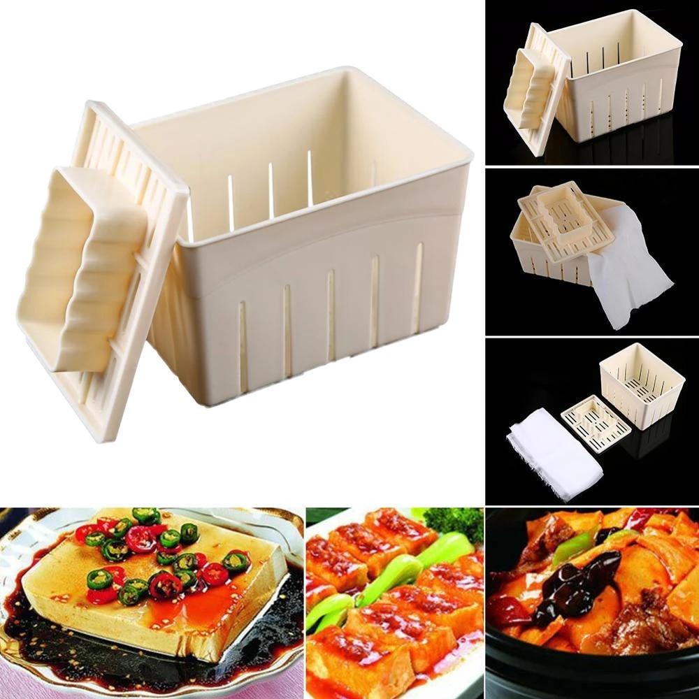 Tofu Press Maker DIY Handmade Tofu Mold Box Soybean Curd Maker Tofu Pressing Mold Making Machine for Kitchen